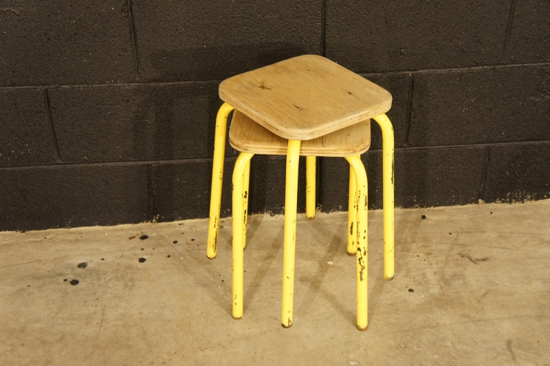 French Industrial Stools
