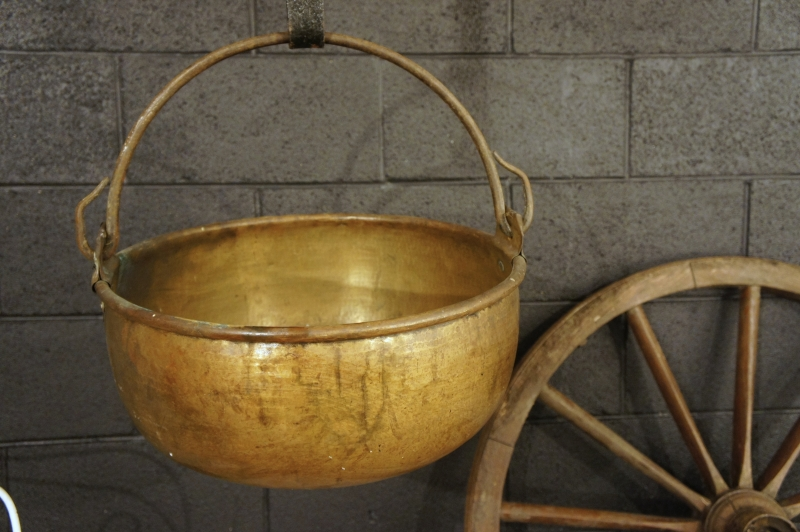 Old  French Copper Cauldron