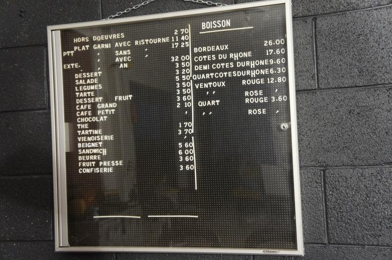 vintage menu letter board