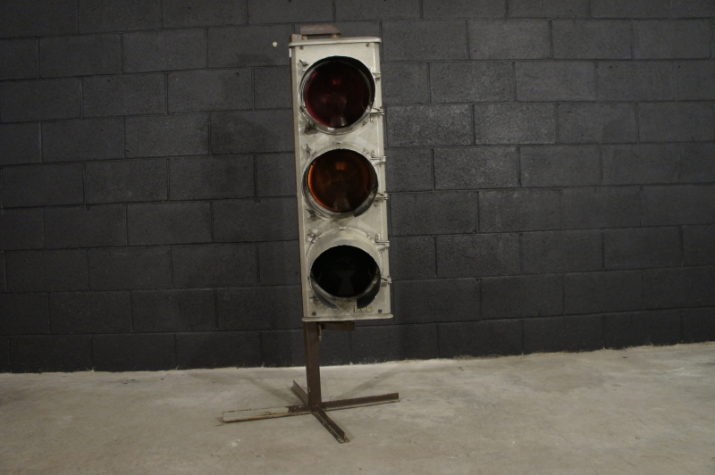 Vintage Traffic Light Floor Lamp