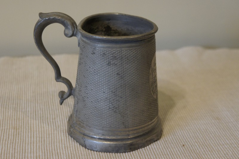 antique pewter mug