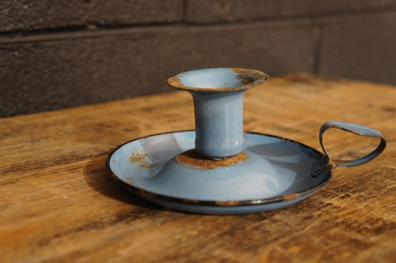 French Enamel Candle Holder