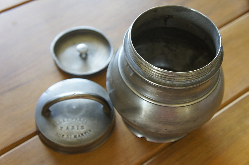 French Pewter Sustenteur Pot