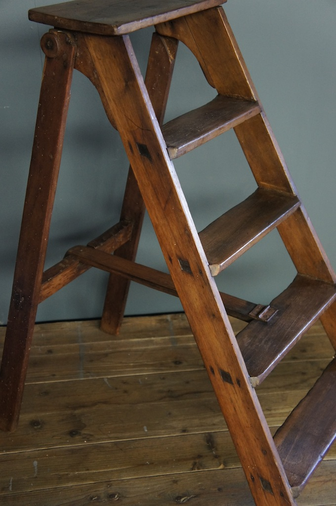 Sold Vintage Wooden Step Ladder
