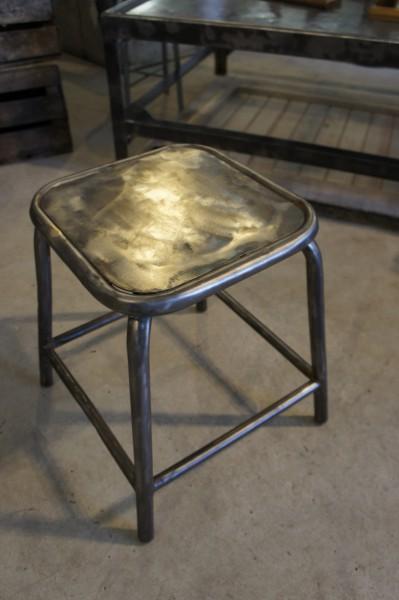 Sold 1950 S Industrial Metal Stool