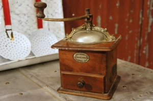 French Antique Coffee Grinder