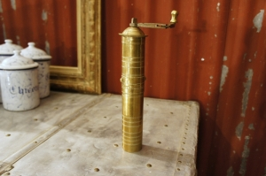 Old Brass Coffee Grinder