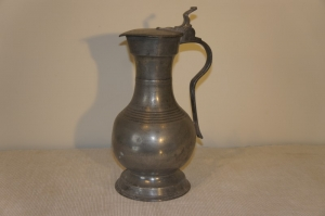 Antique Pewter French Antique Pewter Jug