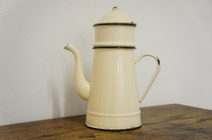 French Biggin Enamel Coffee Pot