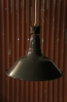 old-enamel-lamp-shade